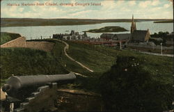Halifax Harbour fron Citadel showing George's Island