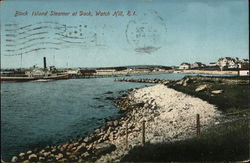 Block Island Steamer at Dock