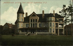Administration Building, State Hospital Postcard