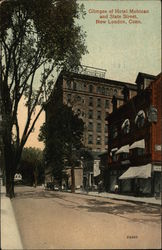 Glimpse of Hotel Mohican and State Street
