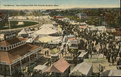 """The Midway"" from Exhibition Hall, Fair Grounds Postcard"