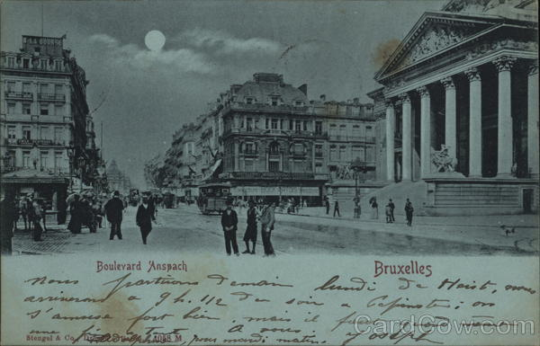 Boulevard Anspach Brussels Belgium Benelux Countries