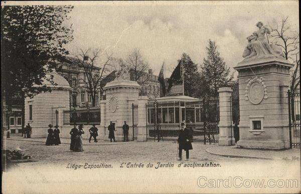 L 39 entree du jardin d 39 acclimatation liege belgium benelux countries - Prix entree jardin d acclimatation ...