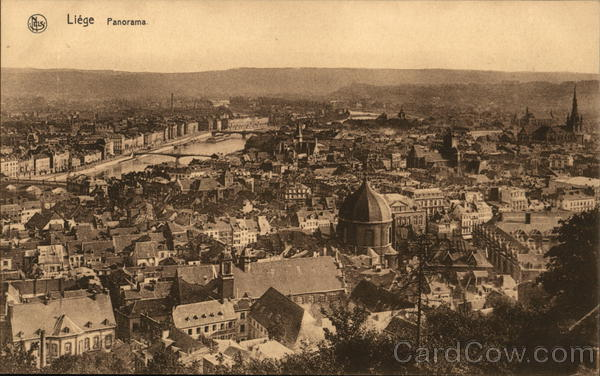 Panoramic View of City Liege Belgium Benelux Countries