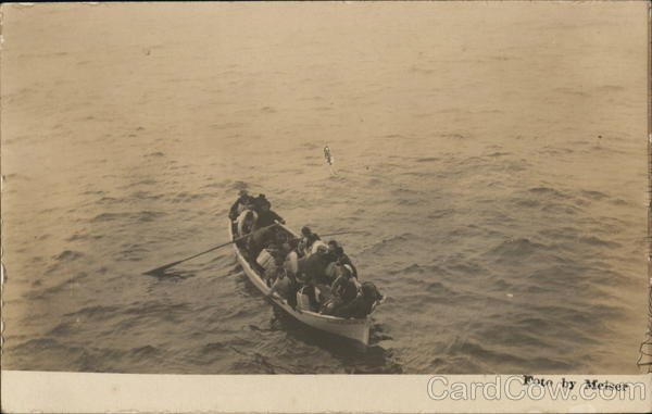 People in Lifeboat from SS Columbia Meiser Canoes & Rowboats
