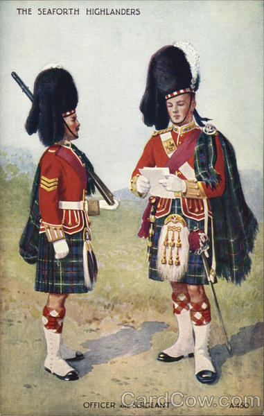 The Seaforth Highlanders, Officer and Sargeant Military
