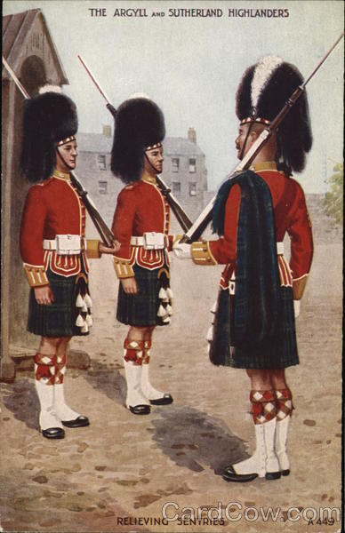 The Argyll and Sutherland Highlanders - Relieving Sentries
