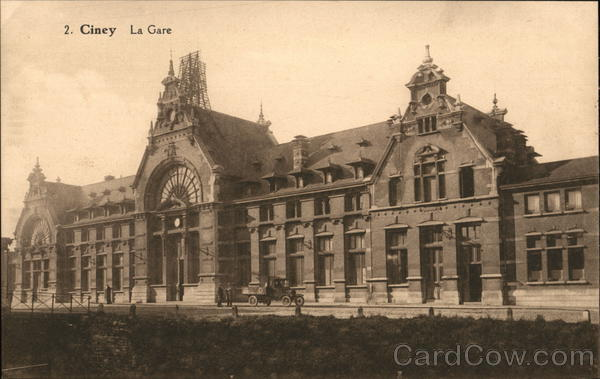 View of the Station Ciney Belgium Benelux Countries