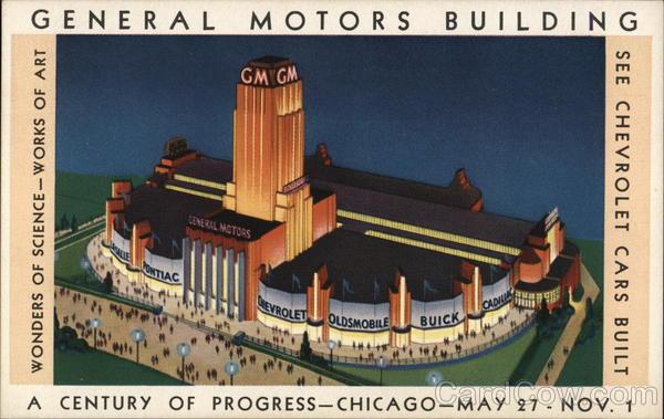 General Motors Building Chicago World 39 S Fair 1933 Postcard