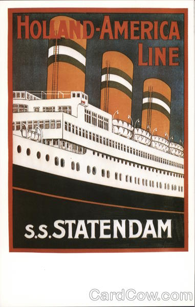 S.S. Statendam, Holland-America Line Poster Advertising Reproductions