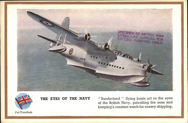The Eyes of the Navy - Sunderland Flying Boats England