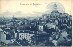Panoramic View of City Postcard
