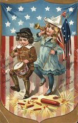 Children Celebrating July 4th