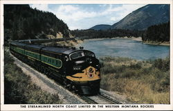 The Streamliner North Coast Limited in the Western Montana Rockies