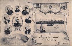 Rare 1898 Belgian Antarctic Expedition Adrien de Gerlache Team