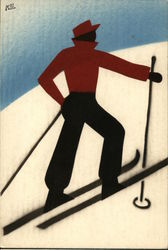 Man on Skis