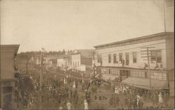 Fourth of July Celebration in Early 20th Century Town