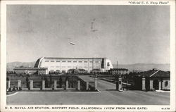 View From Main Gate, U.S. Naval Air Station, Moffett Field