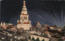 Night Illumination, Tower of Jewels, Panama Pacific Exposition