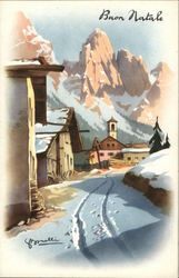Village Winter Scene - Buon Natale