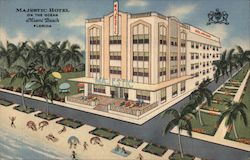 Majestic Hotel on the Ocean Postcard