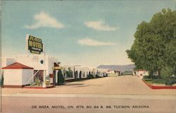 De Anza Motel on Rts. 80, 84 & 89 Postcard