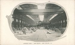 "Interior View - ""New Shops"" Postcard"