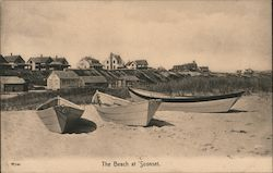 The Beach at Sconset, Nantucket Postcard