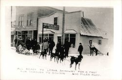 Dog Sled Leaving for a Fast Run to Dawson, 600 Miles Postcard