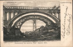 Decommissioning of the New Bridge January 1902 Postcard
