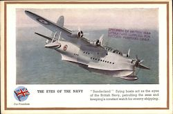 The Eyes of the Navy - Sunderland Flying Boats Postcard