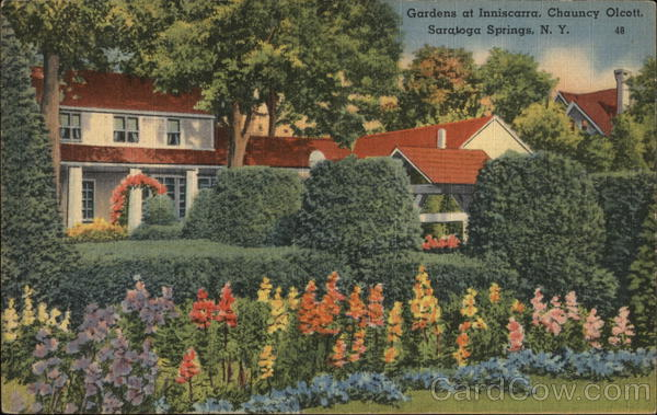 Gardens at Inniscarra, Chauncy Olcott Saratoga Springs New York