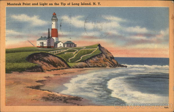 Montauk Point and Light on te Tip of Long Island, N.Y. New York