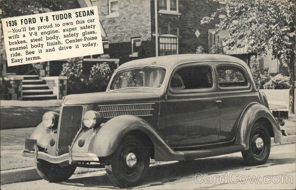 1936 Ford V-8 Tudor Sedan Cars