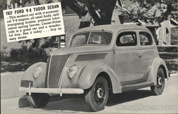 1937 Ford V-8 Tudor Sedan Cars