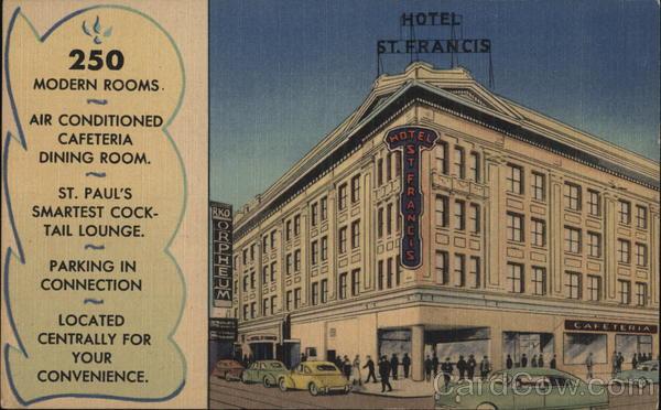 Hotel St. Francis St. Paul Minnesota
