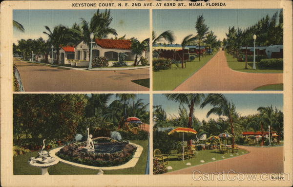 Keystone Court, N.E. 2nd Ave. at 63rd St. - four inset views Miami Florida