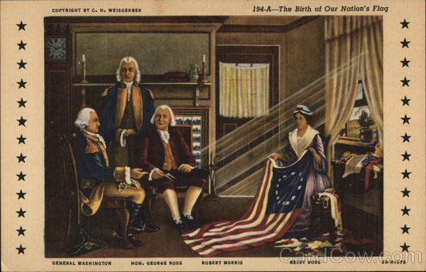 The Birth of Our Nation's Flag Patriotic