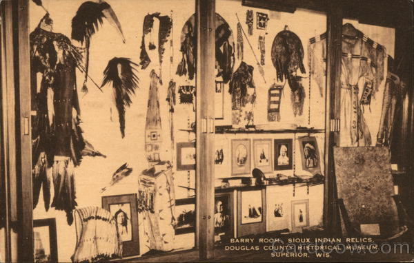 Barry Room, Sioux Indian Relics, Douglas County Historical Museum Superior Wisconsin