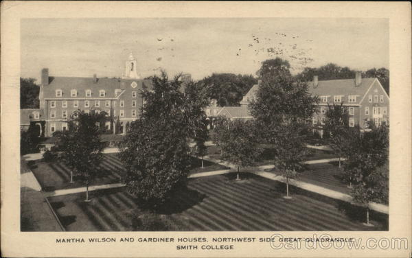 Martha Wilson and Gardiner Houses, Northwest Side Great Quadrangle, Smith College Northampton Massachusetts