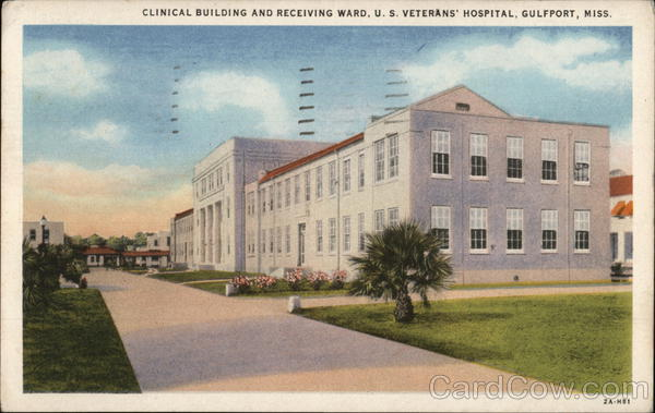 Clinical Building and Receiving Ward, U.S. Veterans' Hospital Gulfport Mississippi