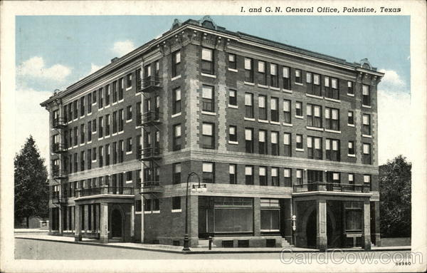 I. and G. N. General Office Palestine Texas