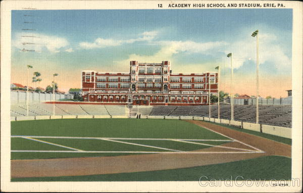 Academy High School and Stadium Erie Pennsylvania