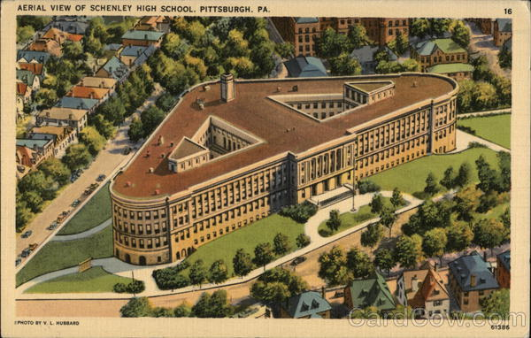 Aerial View of Schenley High School Pittsburgh Pennsylvania