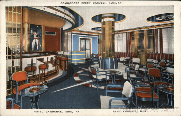 Commodore Perry Cocktail Lounge, Hotel Lawrence Erie Pennsylvania