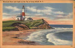 Montauk Point and Light on te Tip of Long Island, N.Y.