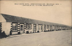 Bell Center Motel Postcard
