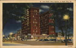Ford Hotel, Perry Square at Night