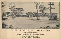 Guest Lodge, Big Meadows