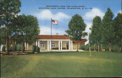 Municipal Golf Course - Eighteenth Hole and Club House Postcard